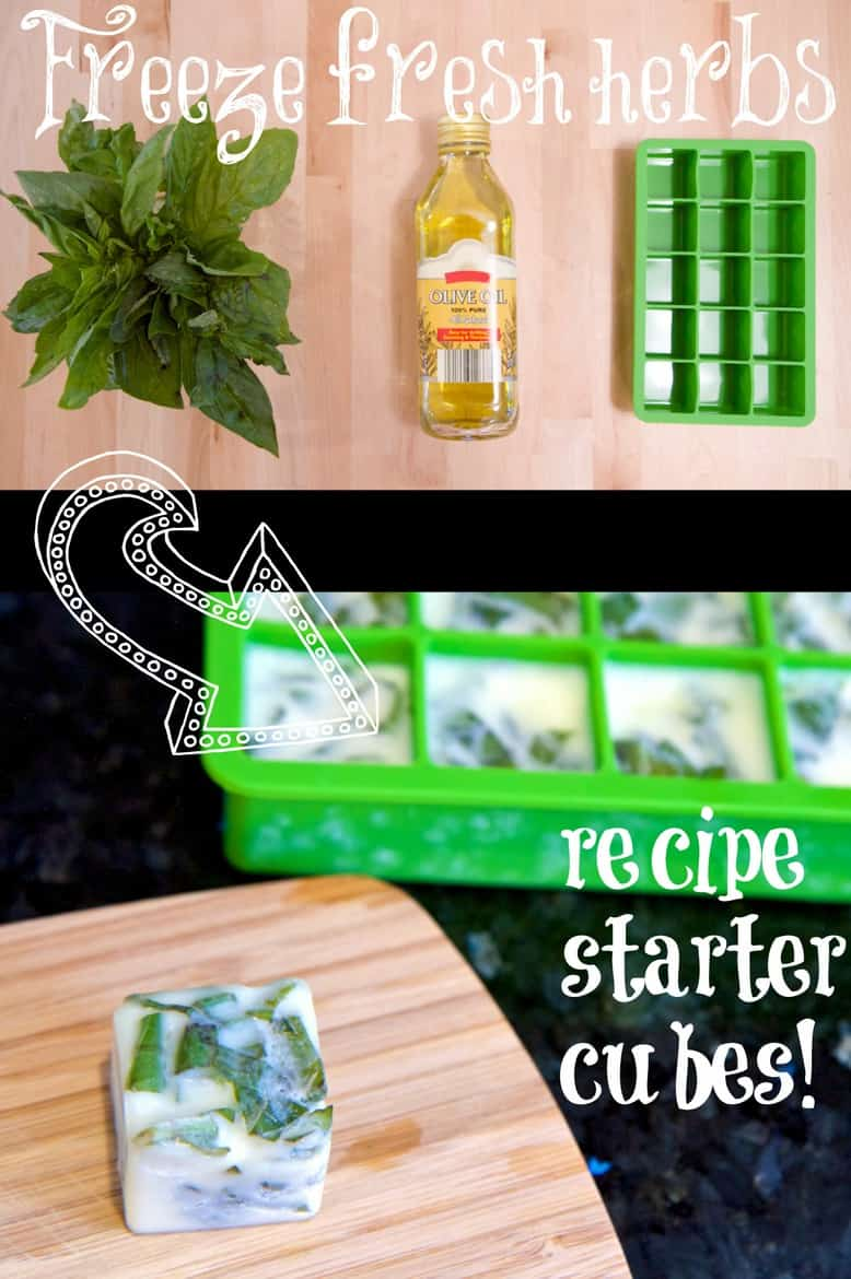 """These two clever kitchen hacks make your fresh herbs useable later as easy recipe starters or """"freeze dried"""" so you can use them months later! Less waste! via @jeanabeena"""