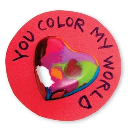 crayon hearts valentines day craft photo 420 FF0207VALA25