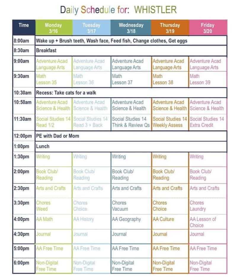 Word Daily Schedule Template from www.surfandsunshine.com