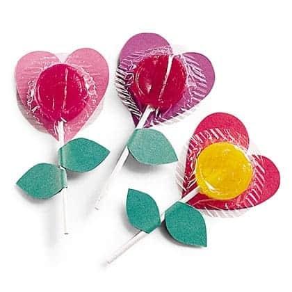lollipop flowers valentines day craft photo 420 FF0201VALENA14