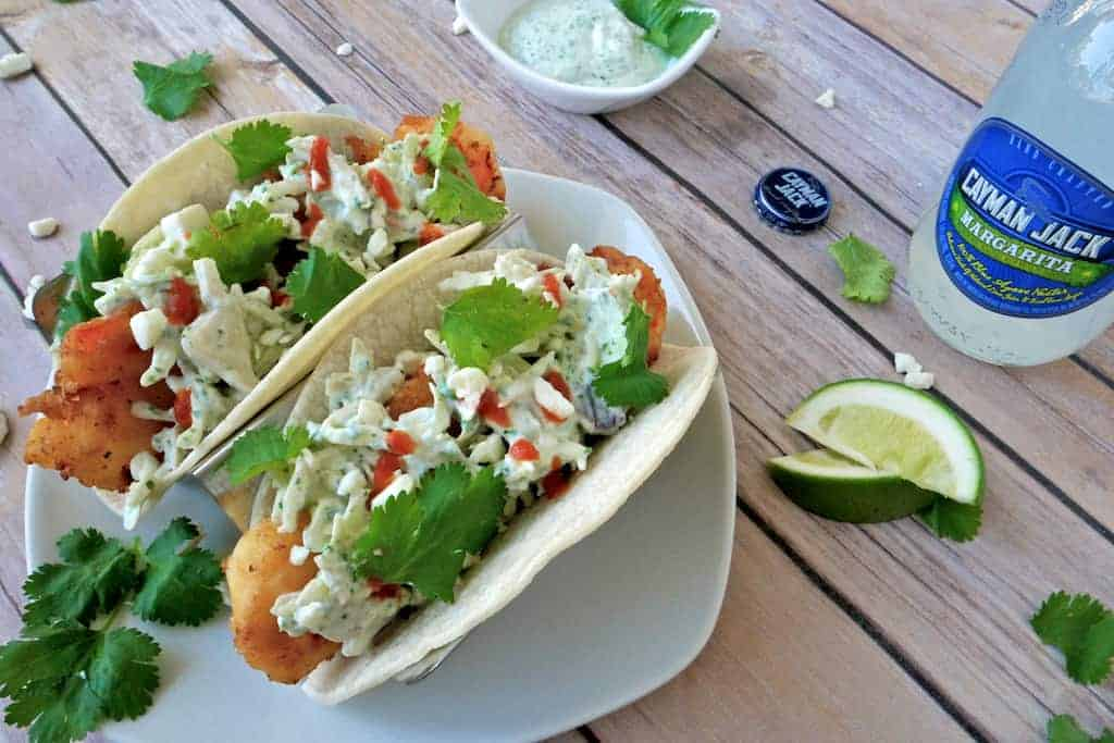 margarita battered shrimp tacos recipe 5 - Forget the beer, try Margarita Battered Shrimp Tacos instead!