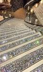 msc divina Swarovski staircase