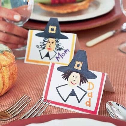 pilgrim place cards thanksgiving craft photo 420 FF1101THANKA13