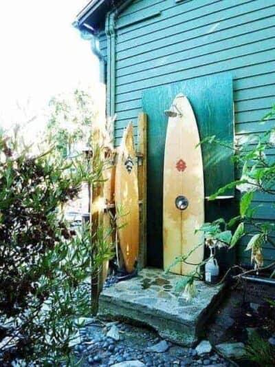 surfboard outdoor shower