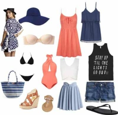 tropical packing list