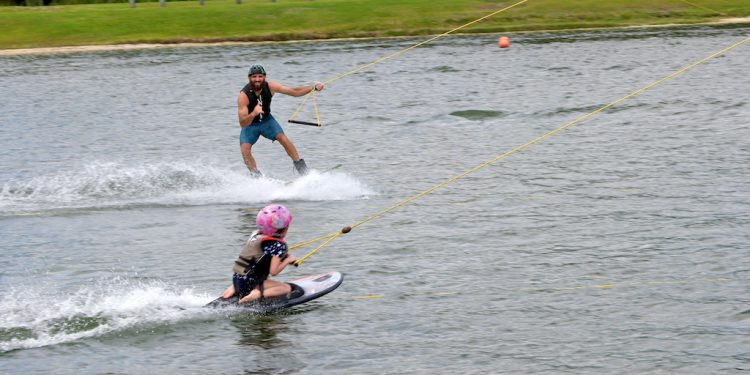 kids wakeboarding at orlando watersports complex