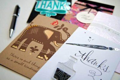 wedding thank you card tips