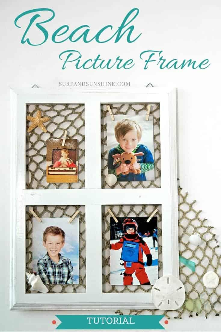 DIY beach picture frame