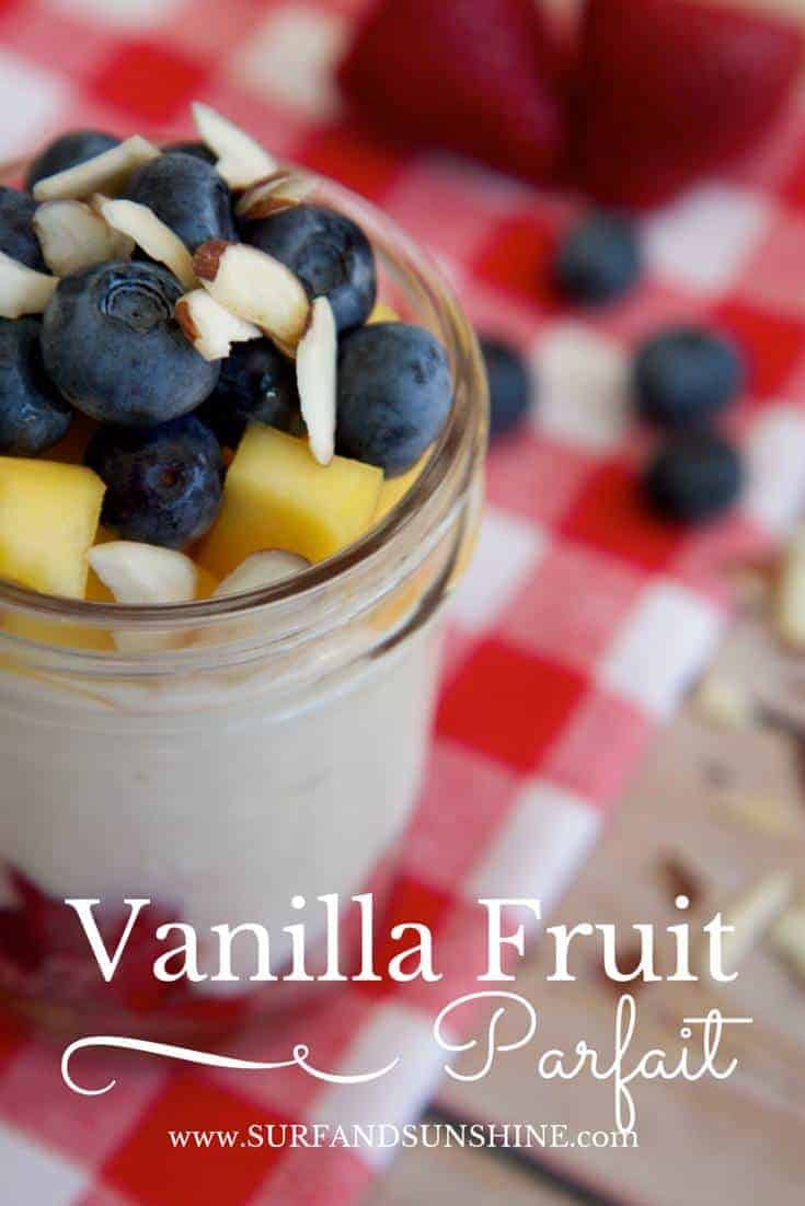 vanilla fruit parfait recipe