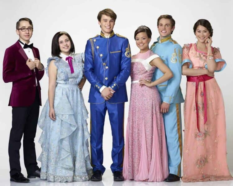"DESCENDANTS - Disney Channel's original movie ""Descendants"" stars Zachary Gibson as Doug, Brenna D'Amico as Jane, Mitchell Hope as Ben, Sarah Jeffery as Audrey, Jedidiah Goodacre as Chad and Dianne Doan as Lonnie. (Disney Channel/Bob D'Amico)"