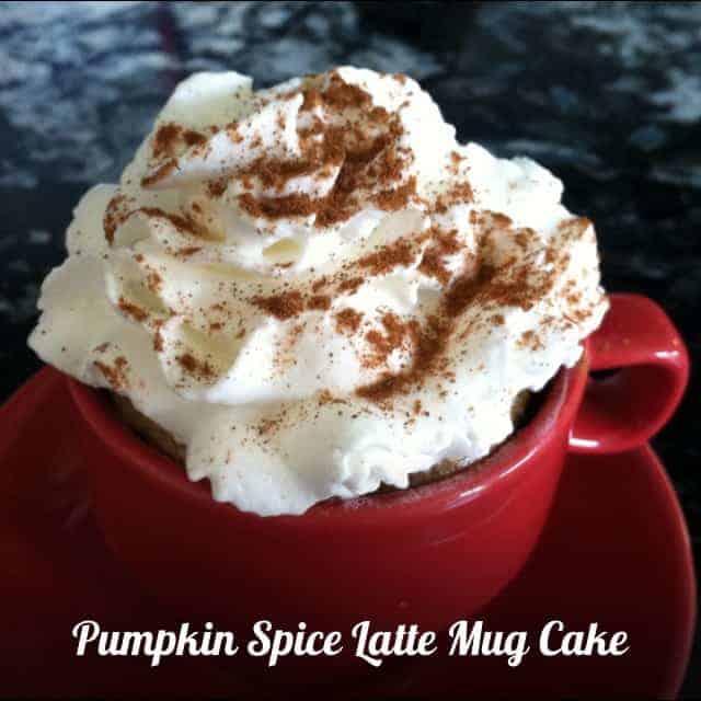 Mini Pumpkin Spice Latte Mug Cake Recipe