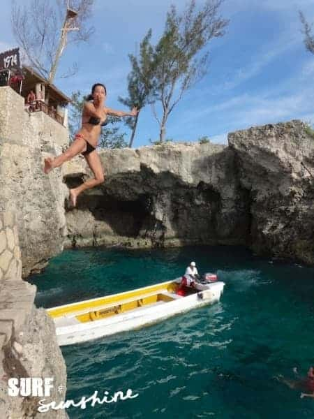 Cliff Jumping at Rick's Cafe in Negril Jamaica