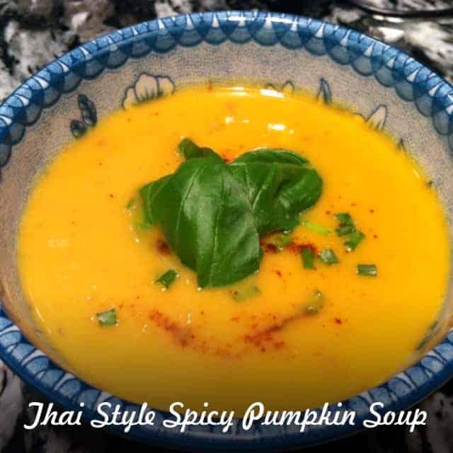 Thai Influenced Spicy Pumpkin Soup