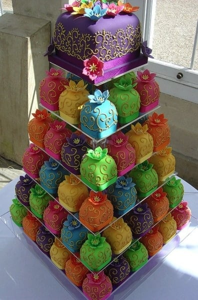 wedding cake ideas filigree cupcake tower