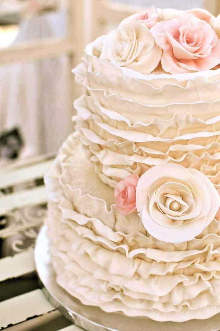 wedding cake ideas ruffled
