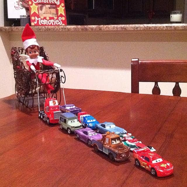 elf on the shelf and cars