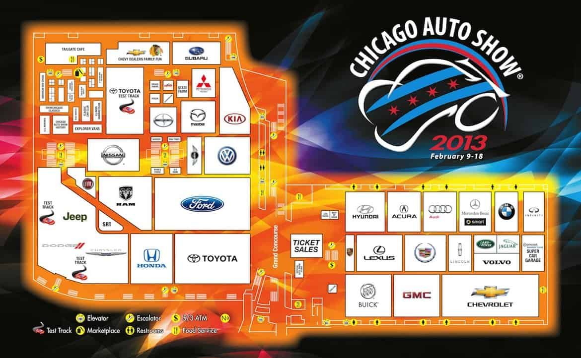 2013 chicago auto show map