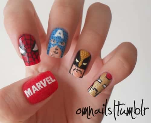 Iron Man Inspired Nails
