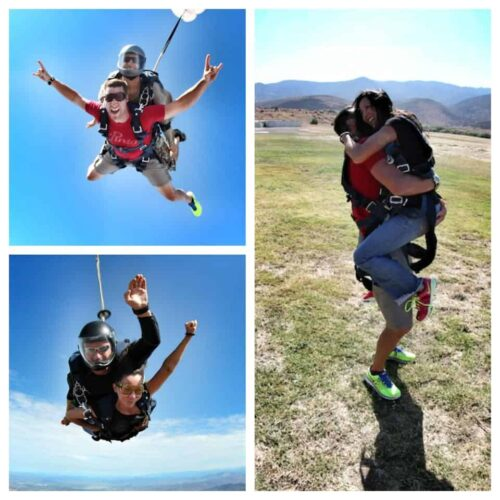 skydive collage