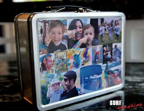 diy family memories lunchbox made with zink happy printer