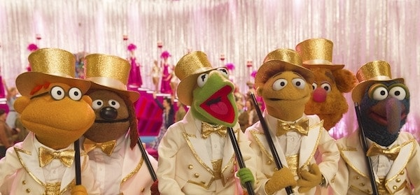 "Disney's ""MUPPETS MOST WANTED"" - (L-R) SCOOTER, ROWLF, KERMIT, WALTER, FOZZIE and GONZO. ©2013 Disney Enterprises, Inc. All Rights Reserved. Photo by: Jay Maidment"