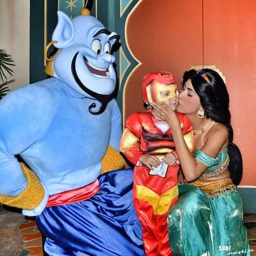 princess jasmine kisses ironman