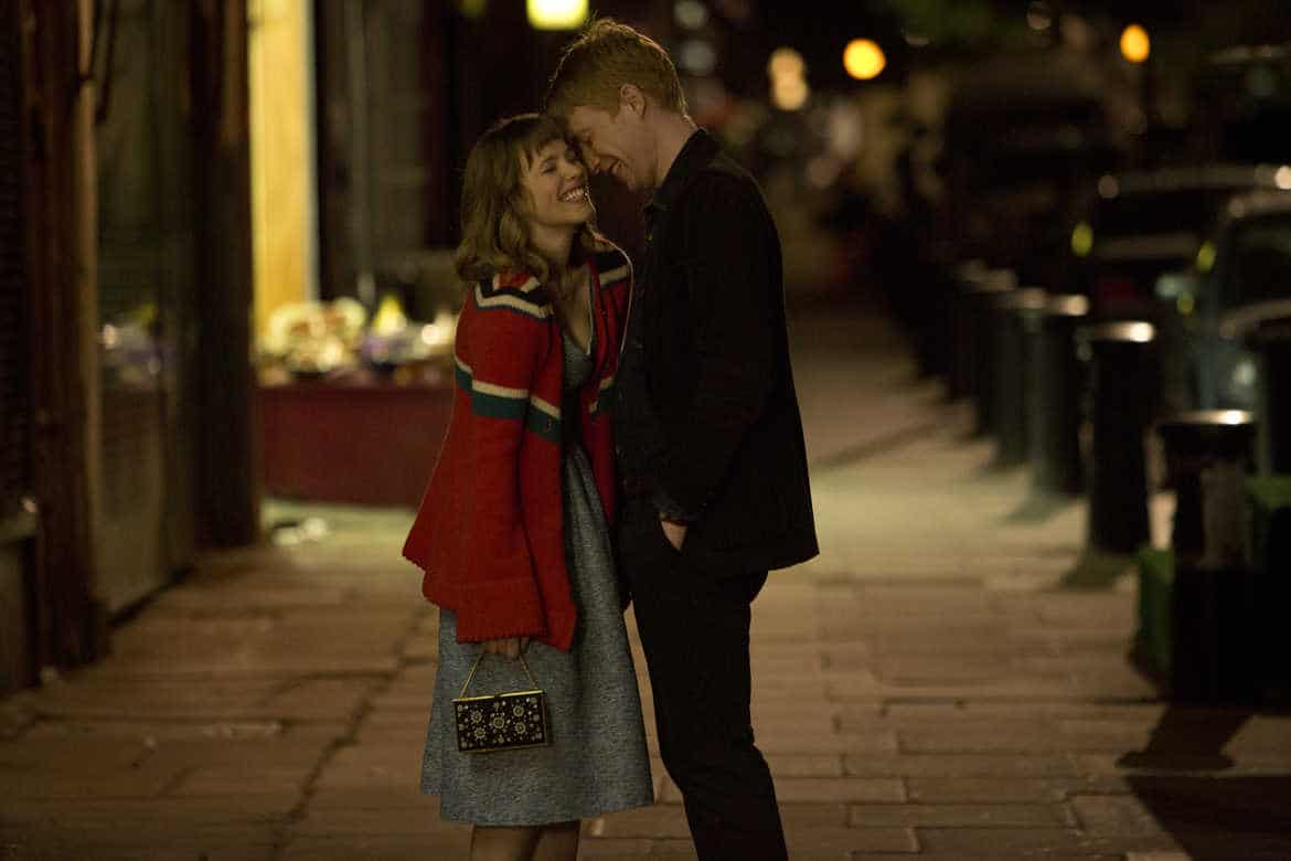 Rachel McAdams and Domhnall Gleeson as Mary and Tim in About Time
