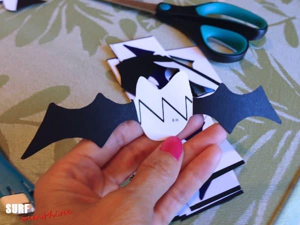 DIY Bat Family Sticker Decorations 11