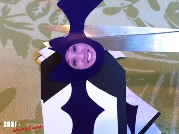 DIY Bat Family Sticker Decorations 9
