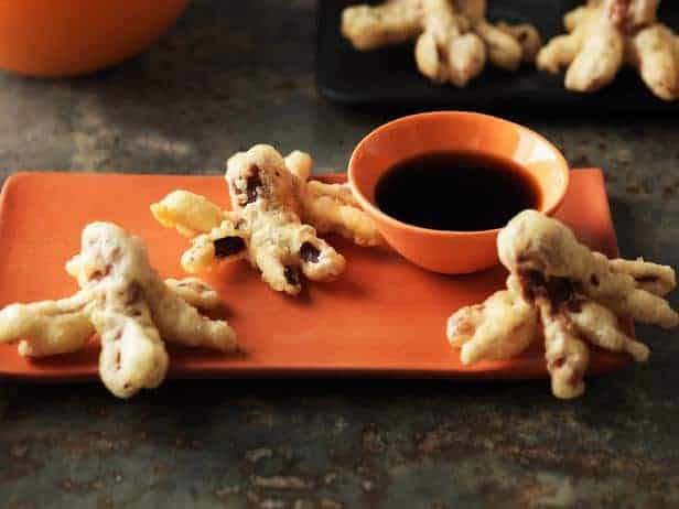 Halloween Tempura Hot Dog Octopus Bites