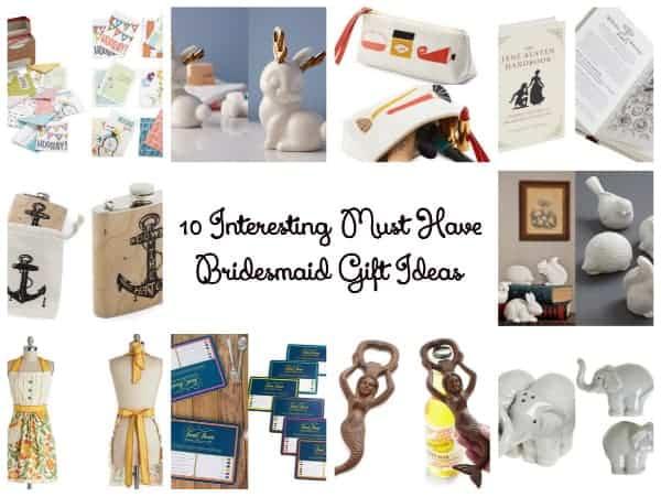 interesting bridesmaid gifts