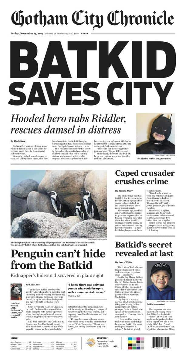Batkid Gotham City Chronicle