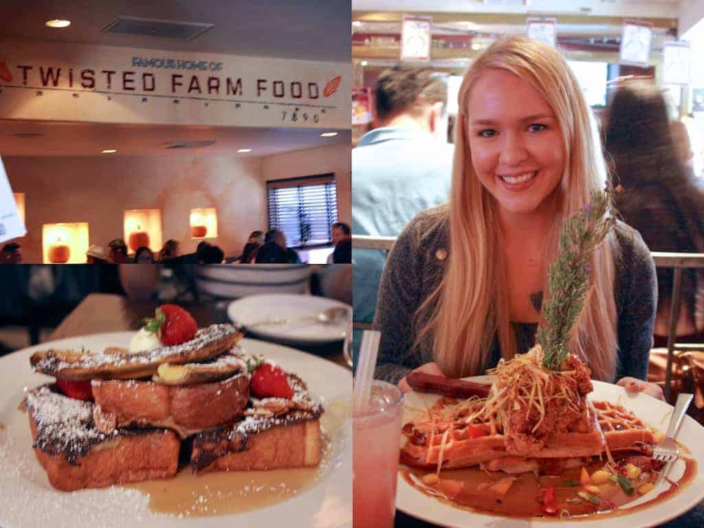 sage fried chicken tower0Asage fried chicken tower0Asage fried chicken and waffle tower - Hash House a Go Go: Delightfully Twisted Farm Food in San Diego