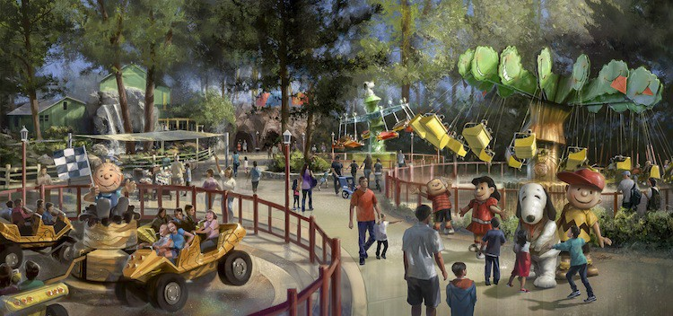 Camp Snoopy New Attractions Rendering