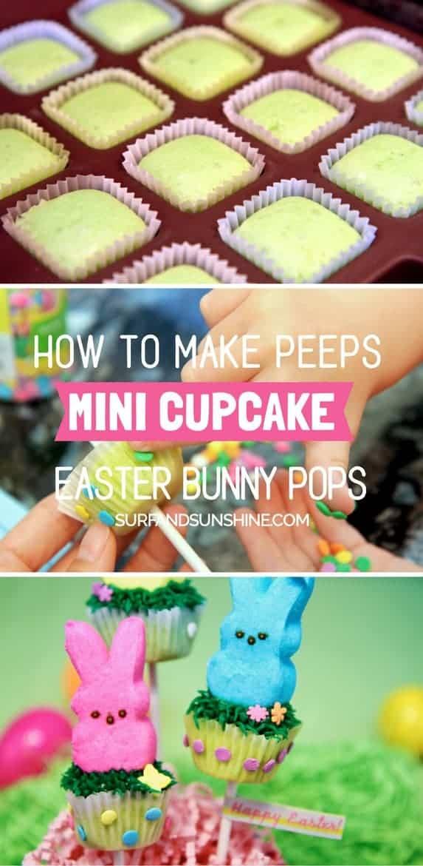 DIY easter peeps pops recipe