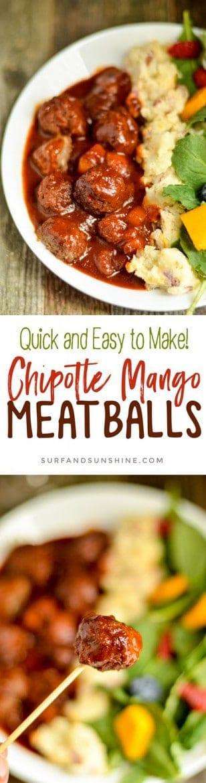 Chipotle Mango Meatball recipe
