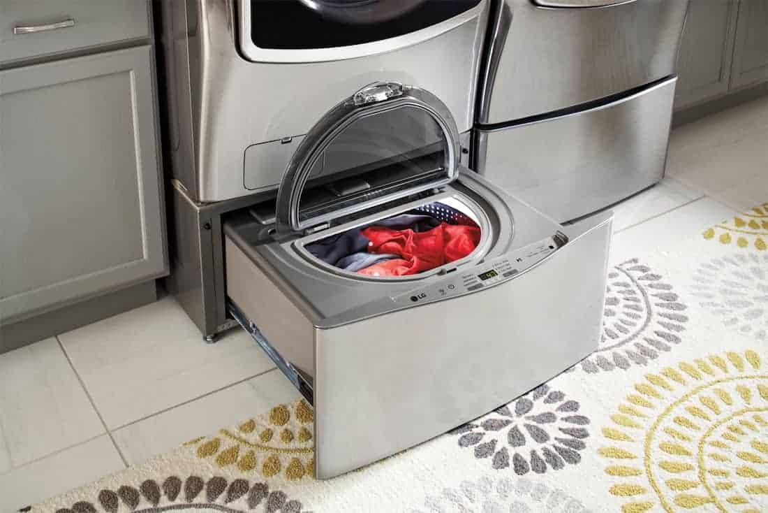 front load LG washer with sidekick How To Remove Common Laundry Stains