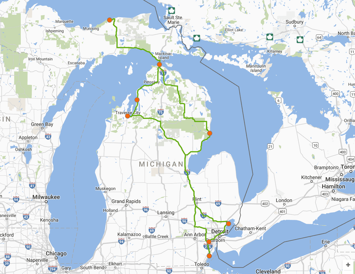 Lakes to visit in Michigan