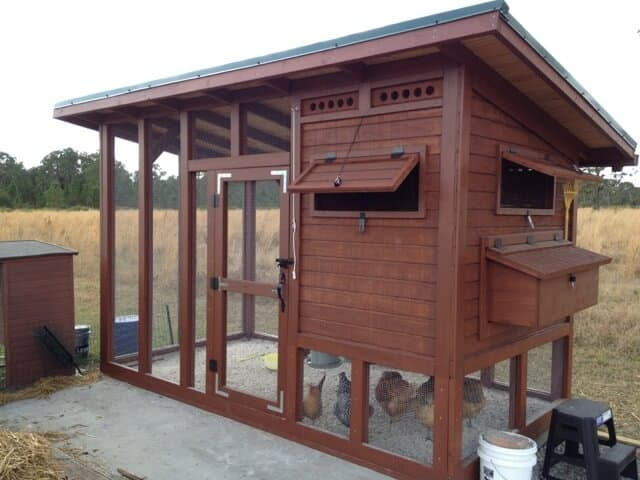 Enclosed multi level Free DIY Chicken Coop Plans