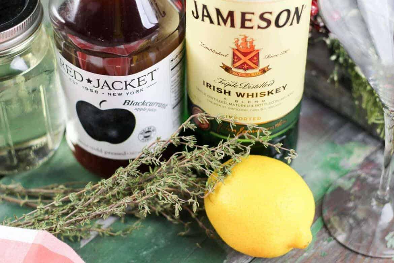 Hard Black Currant Apple Cocktail recipe
