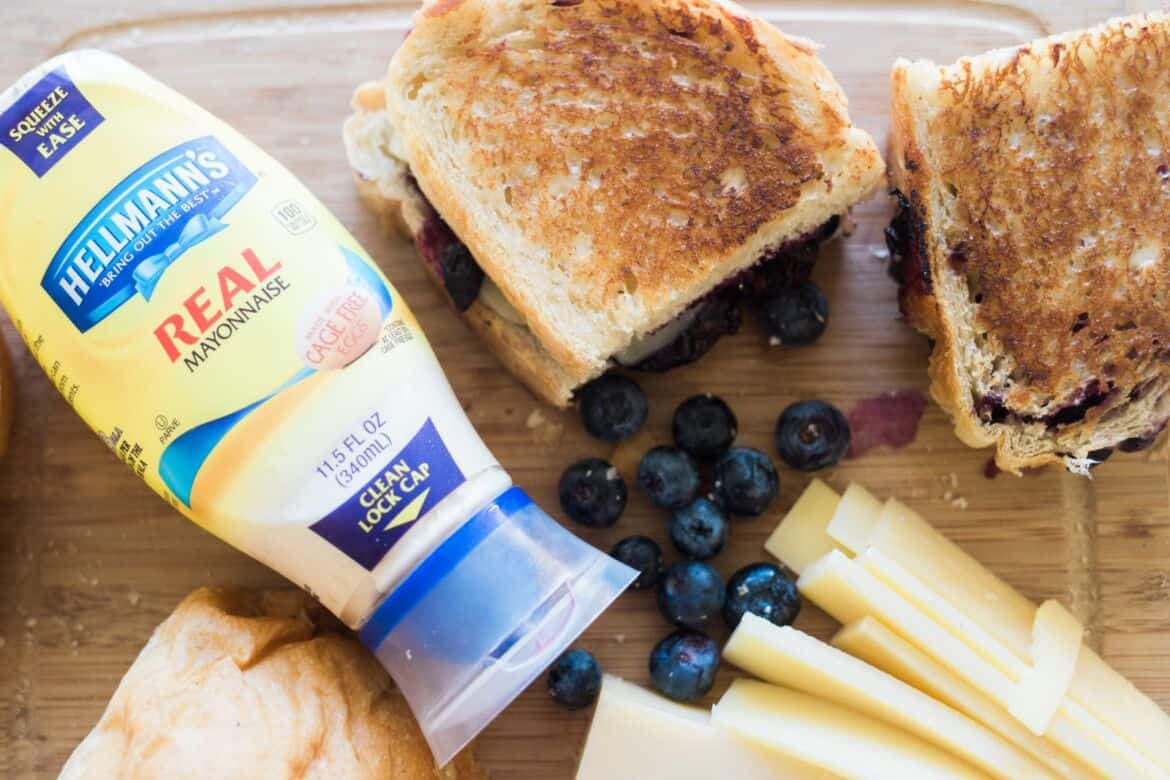 blueberry grilled cheese sandwich recipe