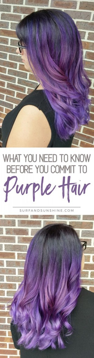 Things to Know Before You Dye Your Hair Purple twitter