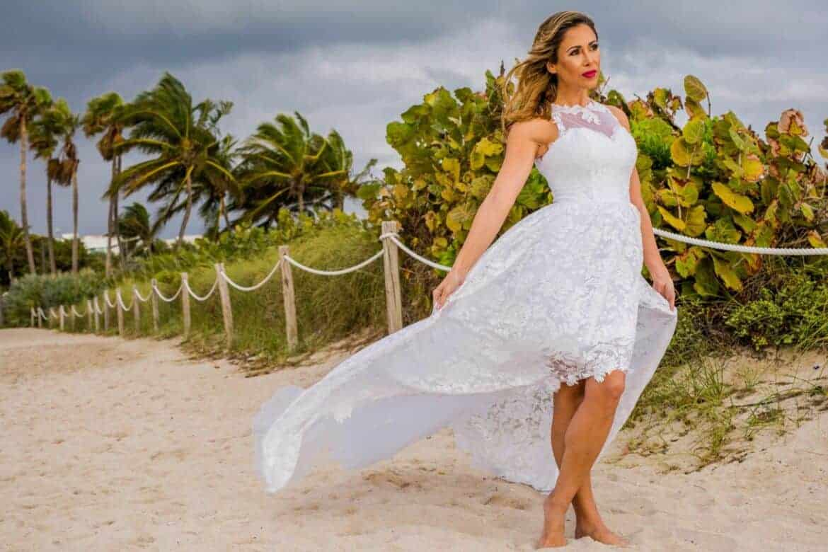 etsy beach wedding dress