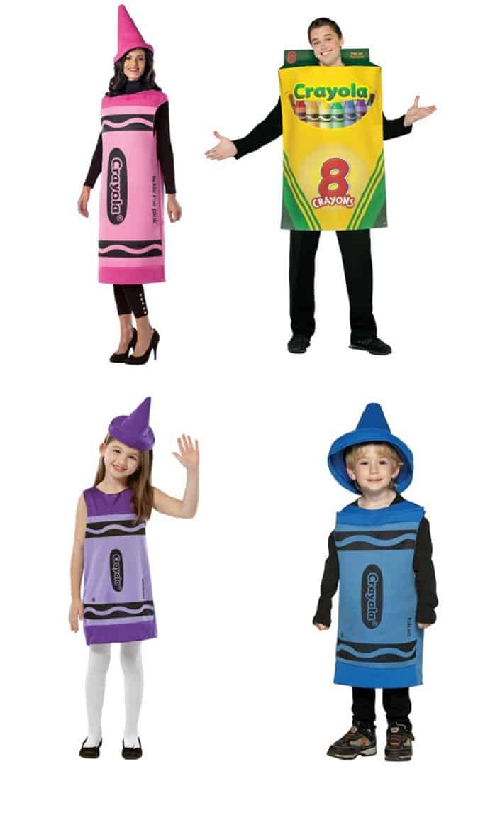 adult pink crayon costume - Check Out These 22 Amazing Family Halloween Costume Ideas