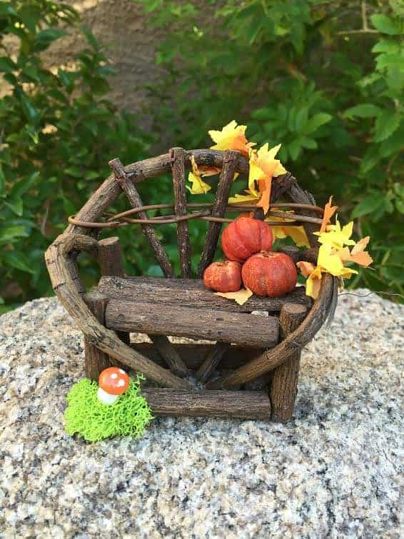 bench  - DIY Fairy House Inspiration Plus Everything You Need To Make Your Own