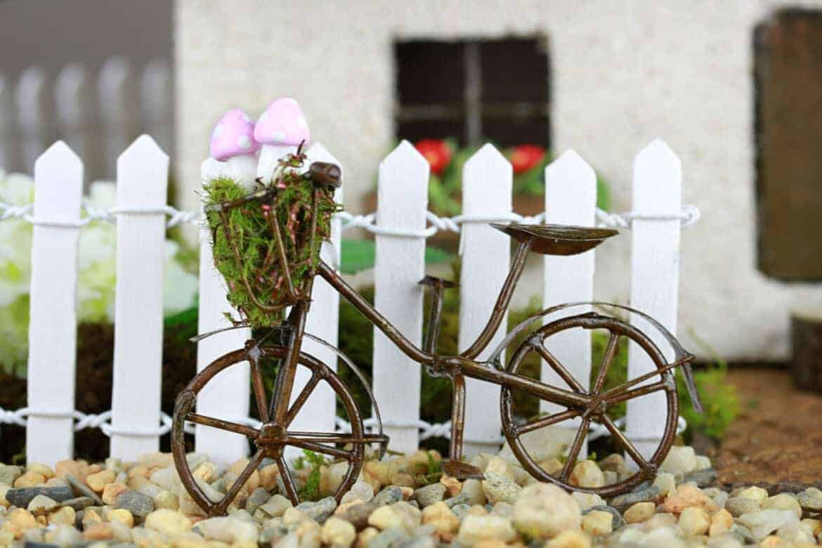 bike  - DIY Fairy House Inspiration Plus Everything You Need To Make Your Own