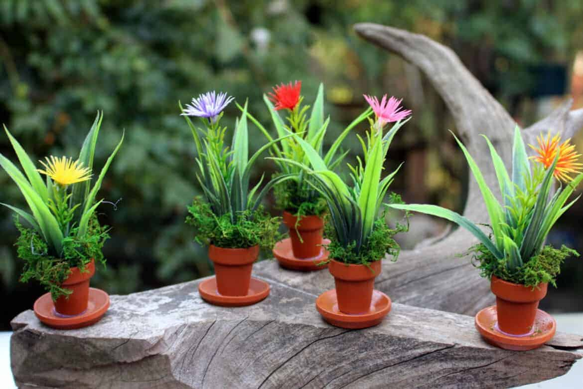 flowers  - DIY Fairy House Inspiration Plus Everything You Need To Make Your Own