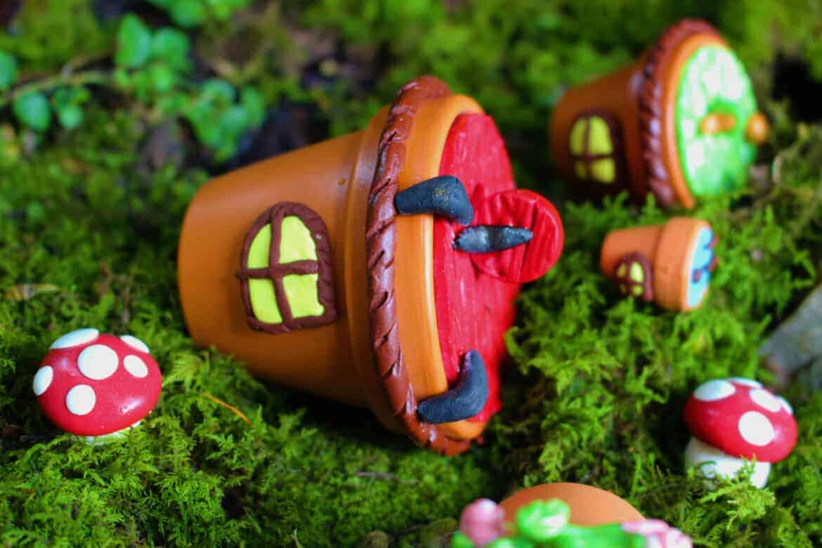 potted fairy house - DIY Fairy House Inspiration Plus Everything You Need To Make Your Own