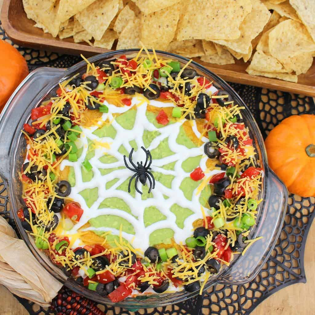 spider20web20taco20dip20sq - 20 of the Best Recipes for Your Halloween Party