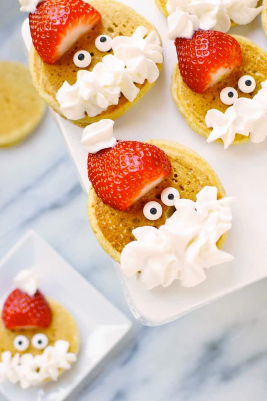bite size santa pancakes recipe